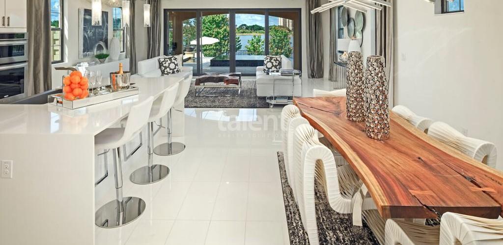 Toscana at Lakeside - Condomínio de luxo em Dr. Phillips, Orlando Mesa de jantar