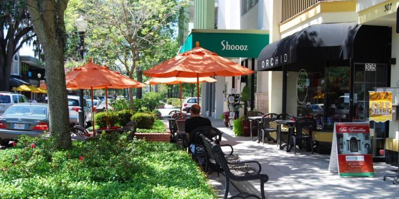 Charme de Winter Park atrai residentes de Orlando