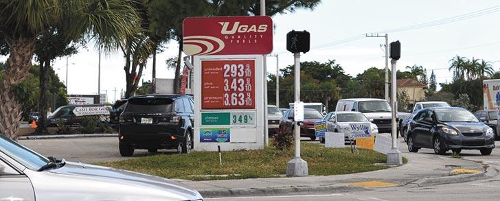 Preço da gasolina na Flórida atinge nível mais baixo em 4 anos