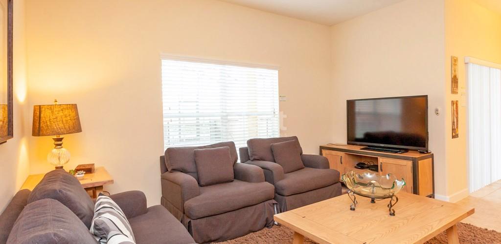 Casas a venda em Orlando sala de estar