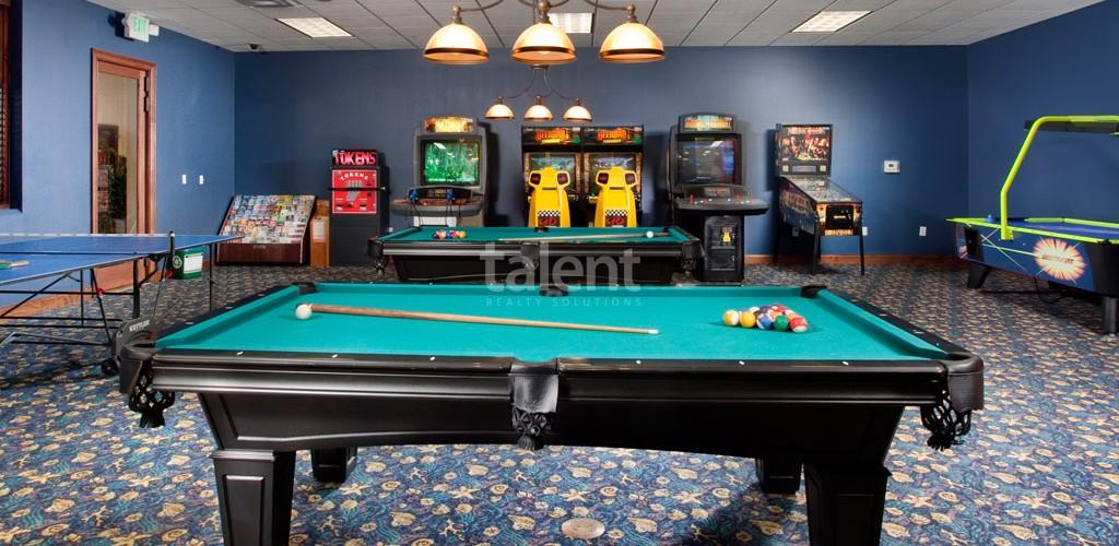 Casas a venda em Orlando sala de jogos