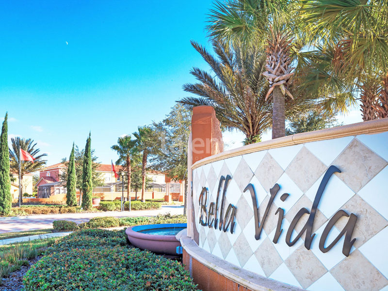 BellaVida Resort - Casas em Orlando perto do Walmart Entrada condomínio