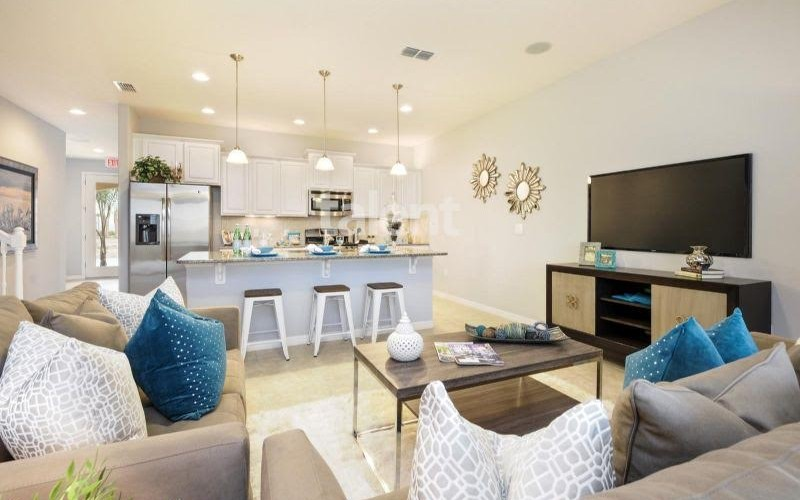 Solterra Resort - Townhouses, Casas em Orlando região da Disney Sala de estar