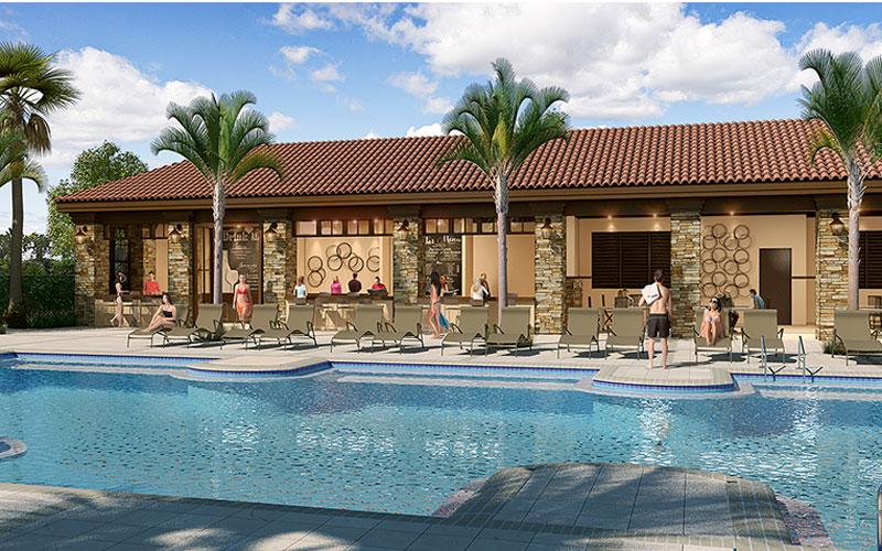 Solterra Resort - Townhouses, Casas em Orlando região da Disney Bar de piscina