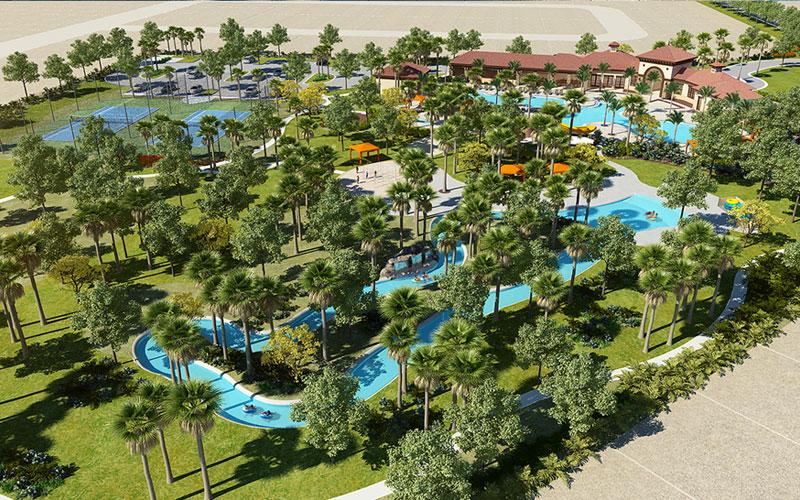 Solterra Resort - Townhouses, Casas em Orlando região da Disney Vista aérea
