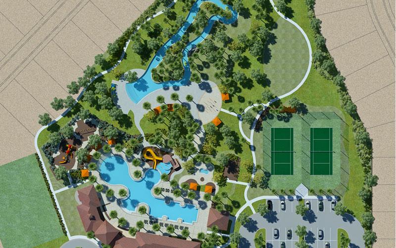 Solterra Resort - Townhouses, Casas em Orlando região da Disney Vista aérea 02