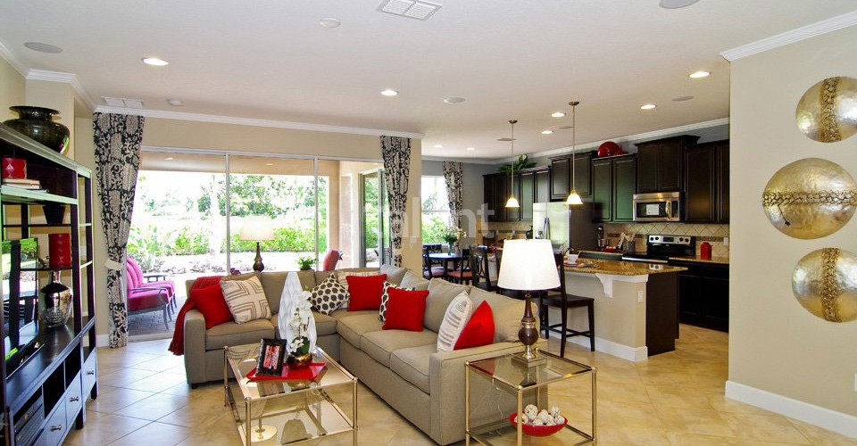 VillageWalk at Lake Nona - Casa ideal para Moradia em Orlando Sala de estar