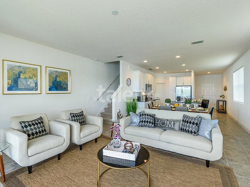 Bridgewater - Comprar casa em Orlando em frente ao lago Sala de estar