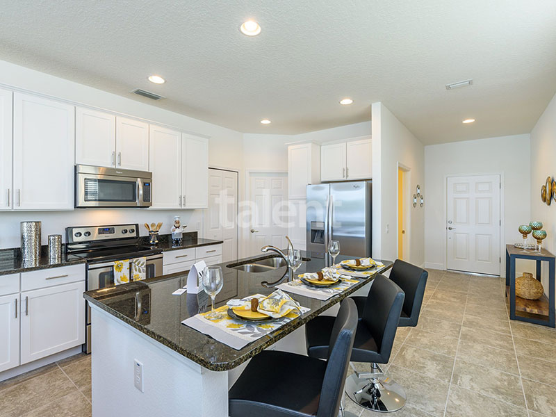 Bridgewater - Comprar casa em Orlando em frente ao lago Cozinha