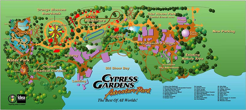 Mapa do Cypress Gardens